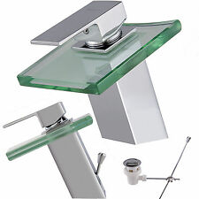 W29 lavabo verre chute d'eau robinet évier Robinet + garniture excentrique
