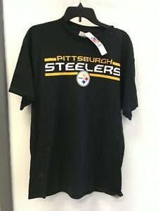 Pittsburgh Steelers Adult T-shirt Majestic Black size Large