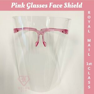 Face Shield Pink Glasses AntiFog Visor Full Face Coverage/Protection Mask PPE UK