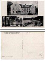 Gasthof Pensionshaus SCHMANNEWITZ bei Dahlen Sachsen alte Mehrbild-AK 3 Ansicht.