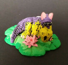 More details for exodus designs small purple dragon on a lily pad 6.5x4 cm ornament figurine