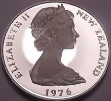 Rare Cameo Proof New Zealand 1976 50 Cents~11,000 Minted~Proofs R Best~Free Ship