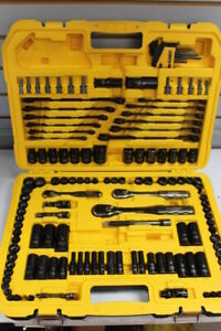 DeWalt Black Chrome Mechanics Tool Set w/ Blow Mold Case. Missing Few Pcs.