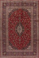 7x10 Red Floral Oriental Medallion Area Rug Wool Hand-Knotted Traditional Carpet