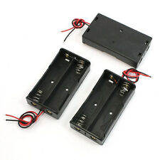3 Pcs Black Battery Storage Box Holder for 3.7V18650 Batteries L6