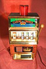 "Vintage Waco 16""  NoveltyOne Arm Bandit Slot Machine Coin Bank-ALL WORKING"