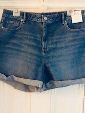 New women's denim F & F MOM shorts, size 18