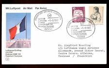 Germania 1987 FIRST FLIGHT COVER FFC, Francoforte-Tolosa #C 5010
