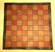 "Small leather chess board 10"" x 10""; draughts/checkers board games gaming board"