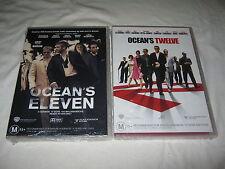 Ocean's Eleven + Ocean's Twelve - George Clooney - Brand New & Sealed - DVD - R4