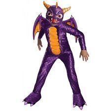 Skylanders Spyro Costume ,8 to 10 years,jumpsuit,feet covers,mask,