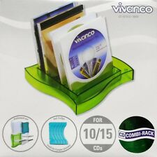 Vivanco CD Combi-Rack  CD Ständer Regal für 10-15 CD´S grün