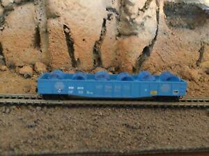 N Scale Micro trains 50' gondola w/water vat load NCS MT. SHASTA SPRING WATE NIB