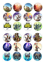 24 FORTNITE COMPUTER GAME BIRTHDAY ICE/ICING EDIBLE FAIRY/CUP CAKE/BUNS  TOPPERS