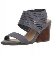 321446971415 Dr. Scholls Jasmin Block Stacked Heel Cushion Comfort Sandal Size 7.5 Blue  Gray