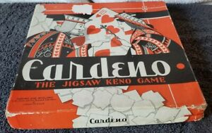 Vintage Cardeno The Jigsaw Keno Game {Cadaco~Ellis_1942} Toy Research Laboratory