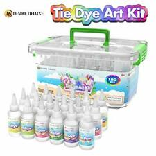 18 Colour Tie Dye Kit, Permanent & Colourfast, One-step Process, Accessories