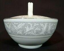W.Dalton Whitney Imperial China 5671 Covered Sugar Bowl Lid Japan White/Gray