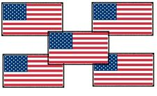 American Flags! - 5 Pack - Magnetic Car Sign - 5in X 2.6in