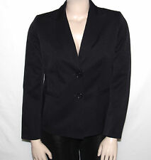 NEW Le Suit SIZE 12 Notched-Collar Two-Button Striped Jacket BLACK/BERRY