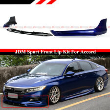 For 18-2020 Honda Accord Still Night Pearl Blue YF Front Bumper Lip Splitter Kit