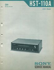 Sony HST-110A Original Stereo AM/FM Receiver Service Manual