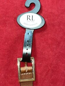 NEW Ralph Lauren, Roma Leather, Tan Brown, 100% Leather Belt. Size S/M