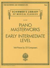Piano Masterworks Early Intermediate Level Sheet Music Book G Schrimer Classical