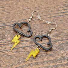 Lightning Cloud Pendant Earrings Fashion Acrylic Ear Studs Hook Decor Jewellery
