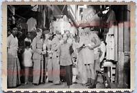 WW2 British India Army Street Scene Women seller Vintage Singapore Photo 18756