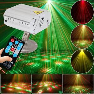 RGB DJ Disco LED Light Mini Laser Projector Stage Lighting Xmas Show Party Light