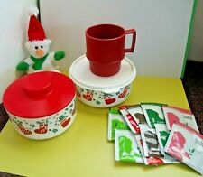 Tupperware Holiday Cookie/Candy/Tea Canisters, Mug++10 Specialty Teas
