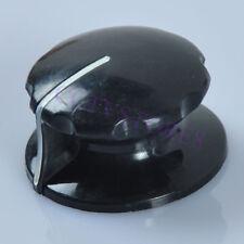 6pc RCA/Viz Copy Skirted Vintage Look Knob 1/4 Shaft Set Screw Amplifier Black