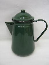 New Falcon Enamel 13cm 1.25ltr Coffee Pot Camping Green