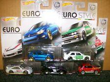 Hot Wheels Car Culture Euro Style Set of 5