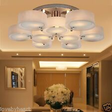 Acrylic Chandelier 9 Light Flush Mount Ceiling Lamp Lamparas de Techo Modernas