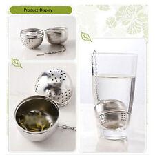 Stainless Steel Kettles Tea Sphere Locking Spice Egg Shape Ball Mesh Infuser EVz