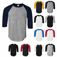 Alstyle AAA 1334 Raglan 3/4 Sleeve Baseball Plain Jersey Team Sports Tee