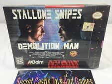 Demolition Man SNES Super Nintendo 1995 BRAND NEW FACTORY SEALED Complete in Box