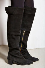 429994eb02a REPORT SIGNATURE SHOES JUSTEEN TALL BOOTS OTK PIRATE BLACK SUEDE 7.5 NEW   189