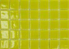 75 Matte Yellow Vitreous Glass Mosaic 20mm Tiles A90