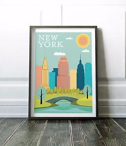 New York Print, New York Art, Travel Poster, Wall Art Print, Minimalist Print