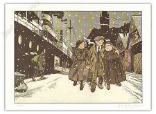 Affiche Le Gall Théodore Poussin retour + Carte postale 150ex signé 28x38