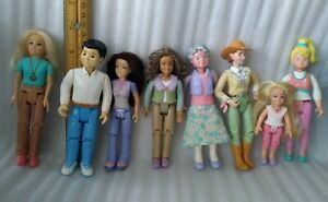 VTG lot of 8 Fisher Price Loving Family Dollhouse Figures People Dolls