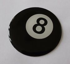 8 Ball Sticker/Decal - Pool Ball style 20mm DIAMETER HIGH GLOSS DOMED GEL FINISH