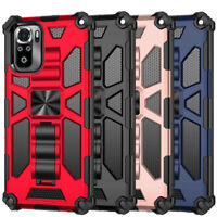 For Xiaomi Redmi Note 10 / 10 Pro Shockproof Armor Kickstand Rugged Case Cover