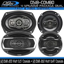 "DS18 6.5' + 6x9"" Car Stereo Coaxial Combo 4-ohm 460 Watt Audio Speaker System"