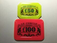 Le Cercle Club £50 and £100 plaques. Later Dr No style and numbered 0002!!!!