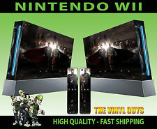 Nintendo Wii AUTOCOLLANT VS SUPERMAN HEROES SKIN graphiques & 2 Pad Stickers