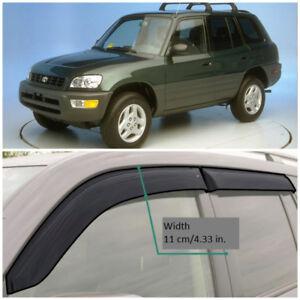 TE23494 Window Visors Guard Vent Wide Deflectors For Toyota Rav4 5d 1994-1999